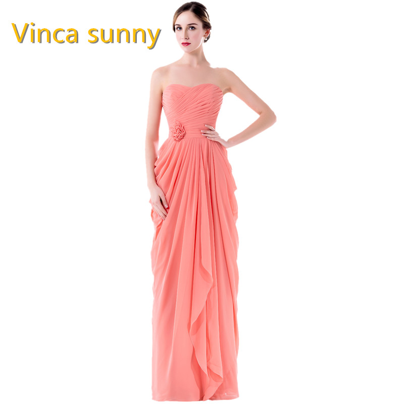 Vinca sunny Bridesmaid Dresses Cheap 2018 Robe Demoiselle D'Honneur Strapless Maid Of Honor Dress Formal Wedding Guest Gowns