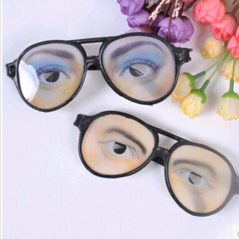 Creative Funny Glasses Fun Toys holiday gifts Those trick wacky fun toys Funny glasses + free shipping