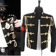 MJ Майкл Джексон королевская Англия военный черный шерстяной формальный пиджак редкий подарок представление коллекция