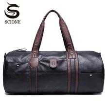 PU Leder herren Reisetaschen Casual Schulter Tasche Marke Männer Umhängetasche Handtasche Tote Reise Duffle Taschen Vintage Sac de Voyage