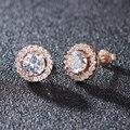 Rose Gold Stud Earrings For Wedding Inlay AAA+ Cubic Zirconia Earrings For Fashion Women Earings brincos brinco WE177