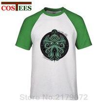 Horror llamada de Cthulhu T camisa de los hombres monstruo pulpo camiseta  Terror Cthulhu camiseta de 935f7648fa4