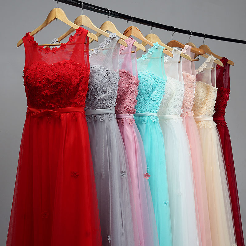 New Arrival Floor Length Sweat Lady Girl Women Princess Bridesmaid Banquet Party Ball Dress Gown Fast Shipping