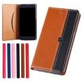 "Para sony xperia c4 case capa, litchi grain luxo genuine leather case capa para sony c4 dual e5333 e5303 5.5 ""phone case capa"