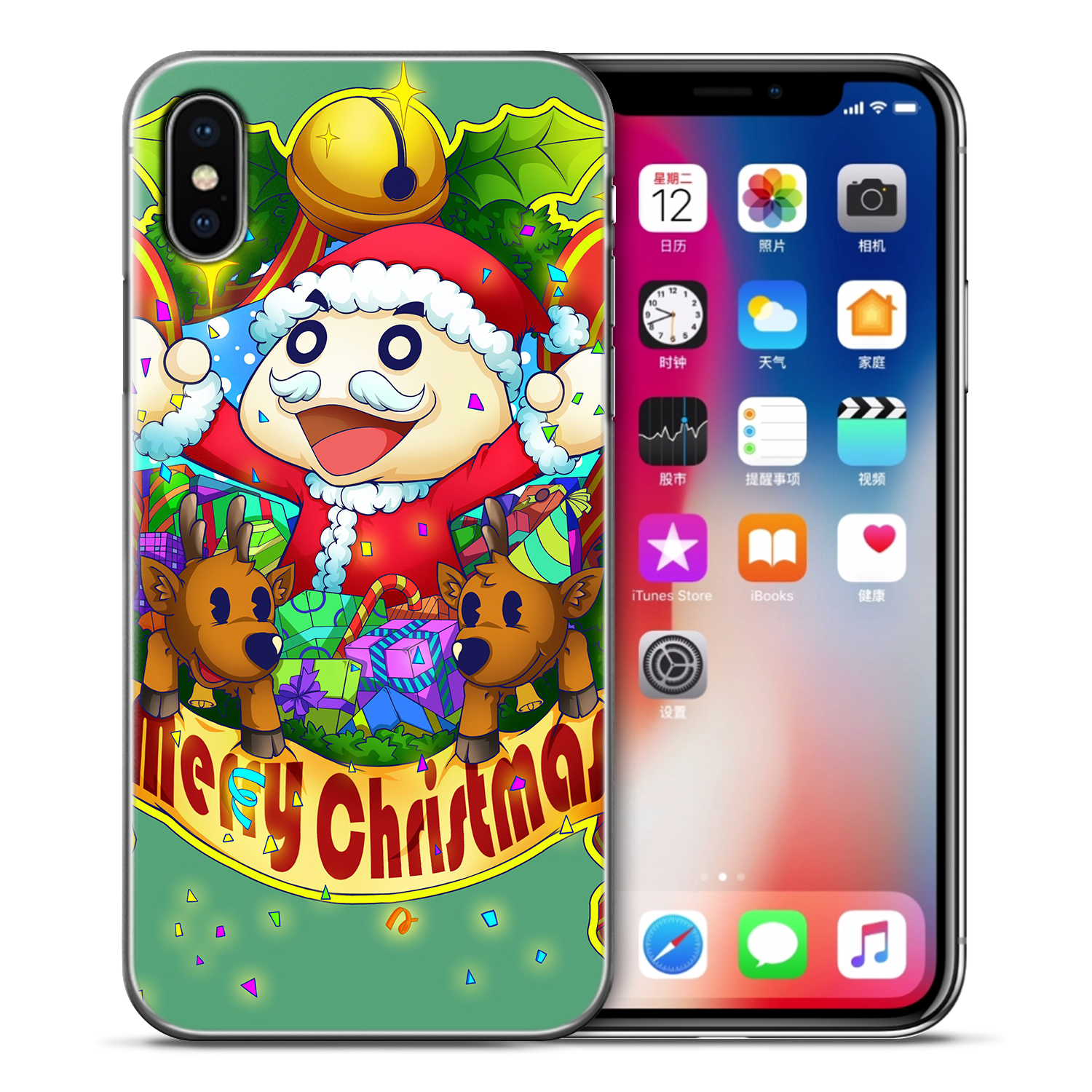 aaa1a992684e55 For Apple Iphones 5 5S SE 6 6S 7 8 Plus X Case Christmas Cartoon Case ...