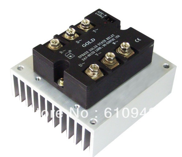 LS110  Three  Phase Solid State Relay SSR 10A-15A  use screw Aluminum Heat Sink Heatsink normally open single phase solid state relay ssr mgr 1 d48120 120a control dc ac 24 480v