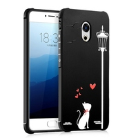 For Meizu Pro 6 Plus Case Silicone 3D Relief Painting Lovely Cat Bear Shockproof Back Cover For Meizu Pro 6 6s 6 Plus Case Coque