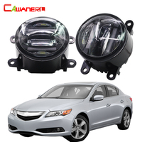 Cawanerl For Acura TSX TL ILX RDX Car Accessories Front Fog Light LED Daytime Running Lamp