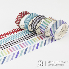 5 pcs/box Cloth texture Tartan washi tape DIY decorative scrapbook masking tape office adhesive tape stationery school supplies