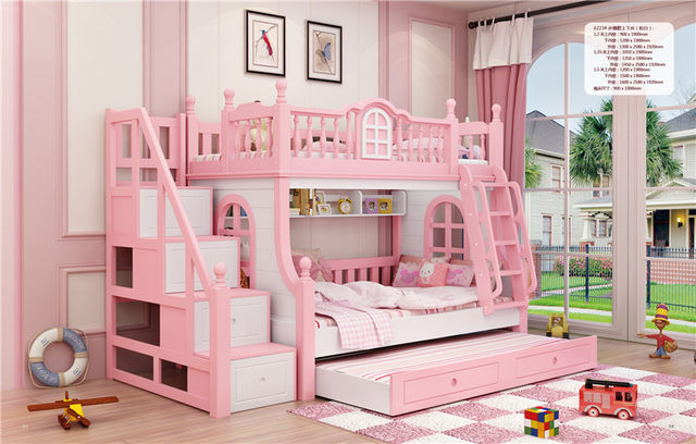 online shop twin beds for girls child pink bunk bed kids beds with