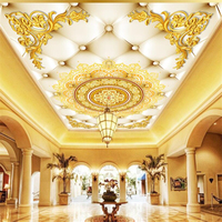 Beibehang Custom 3d Wallpapers Modern Luxury High End European Style Soft Bag Ceiling Ceiling Fresco Background