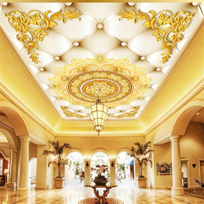 Luxury European Ceiling For Modern Home: Beibehang Custom 3d Wallpapers Modern Luxury High End