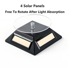 Solar Power 360 Degree Turntable Jewelry Rotating Display Stand Table Turn Plate For Watch and Store