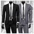 Outono e inverno dos homens roupa masculina combina com fino blazer twinset dos homens blazer + calça