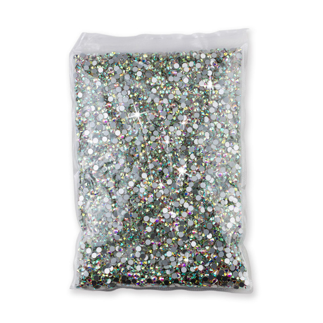 Wholesale SS3-SS40 1440-14400PCS/PACKS Crystal AB 3D Nail Art Decoration rhinestones glue on flatback Clothing rhinestone 4
