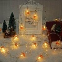 YINGTOUMAN Transparent Santa Lamp 4M 20LED USB Garland String Christmas Lights Fairy Xmas Party Garden Wedding Decoration
