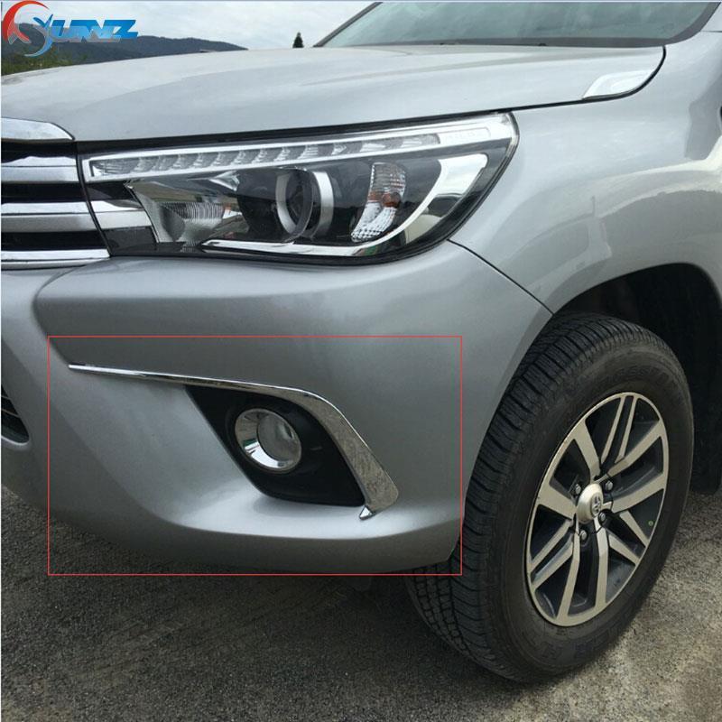 2016-2017 для Toyota Hilux Аксессуары Chrome Противотуманные фары брови Накладка для Toyota Hilux Revo пикап автомобиль литья полосы Ycsunz