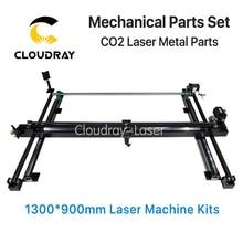 Mechanical Parts Set 1300mm 900mm Single Head Laser Kits Spare Parts for DIY CO2 Laser 1390