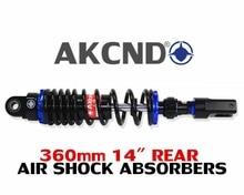 AKcnd 2pcs 360mm 14 Universal Shock Absorbers For Yamaha aerox nvx 155 Honda Suzuki Dirt bikes Gokart ATV Motorcycles and Quad