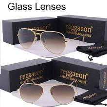 reggaeon luxury Glass lens sunglasses women 2019 High quality uv400 men Brand Designer beach box rays Pilot Sun glasses G15