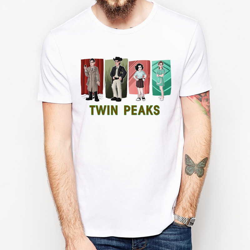 Twin Peaks 2017 t-shirt men Summer New Fashion Clothing Tshirt Men Short Sleeve T Shirt Men Casual tops tees