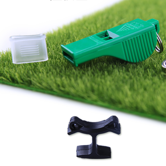 hot Top Professional plastic referee whistle with lanyard for football basketball survival camping sports soccer