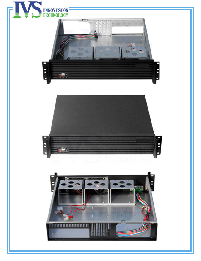Upscale Al front-panel 2u server case Industrial computer RC2400LP standard 2U rack mount chassis wa20p cd [ rack panel 4pin 2contacts rack and panel]