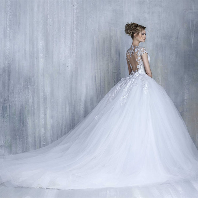 Bridal Gown Sexy Backless Princess Wedding Gowns Bridal Dress Ball ...