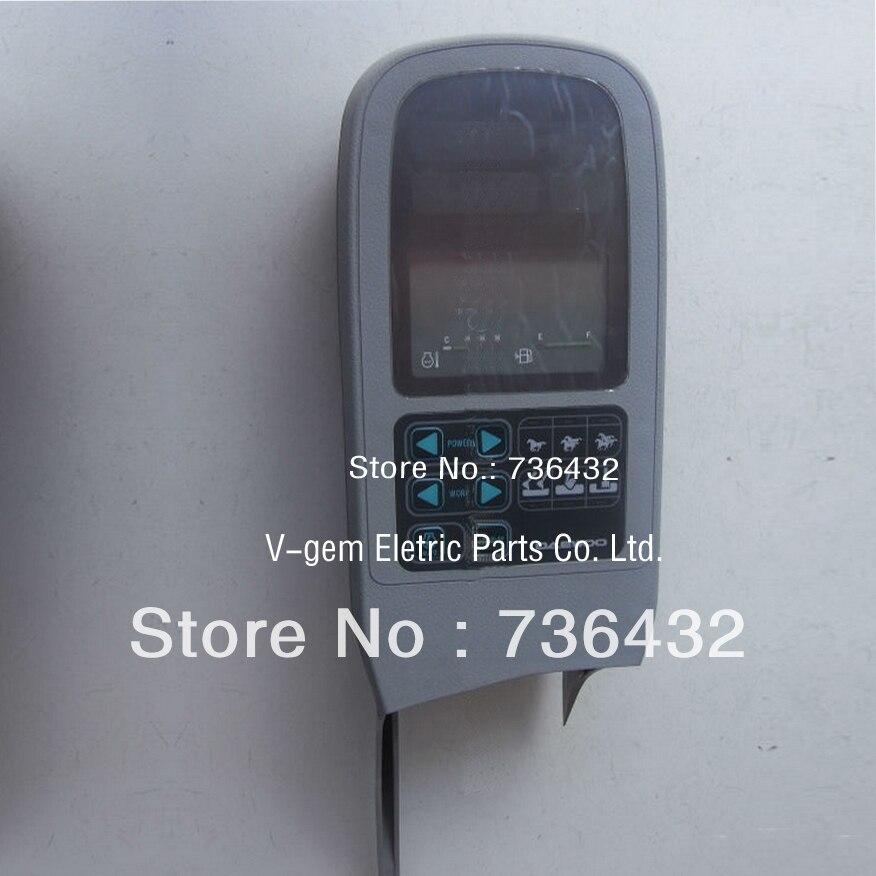 Livraison gratuite! Doosan DH220-5 panneau lcd jauge OEM moniteur 2539-1068A/moniteur d'excavatrice/écran d'affichage d'excavatrice/panneau de jauge