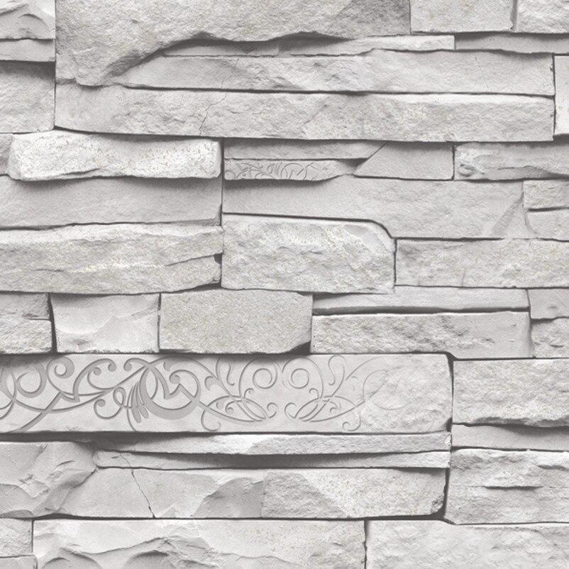 aliexpress.com : acquista grigio bianco goffrato muro di mattoni ... - Sala Da Pranzo Contemporanea Con Strutturata Beige Grasscloth Carta Da Parati