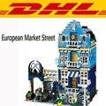 2017 Nueva LEPIN 15007 1275 Unids Fábrica Ciudad Mercado Europeo Calle Kits de Edificio Modelo Figura Juguetes de Bloques de Ladrillos Compatibles 10190