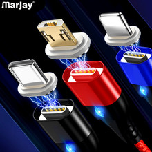 Marjay Magnetic Cable Micro USB Type C For iPhone XR Samsung