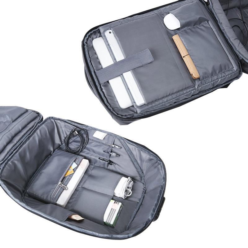 KALIDI 15 inch USB Charge Waterproof Laptop Bag for Mackbook pro 13.3 - 15.6 inch Notebook Bag Computer Bag for Teenage
