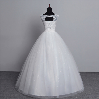 100% Real Photo Korean Lace Up Ball Gown 2019 Fashion Classic Wedding Dresses Customized Plus Size Bridal Dress with 3D Flowers