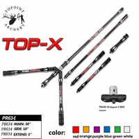 1 Set Bogenschießen Carbon Stabilisator Recurve Bogen Stabilisator 30/10/5 zoll Balance Bar Stange 40 Grad V -bar Schießen Jagd Zubehör