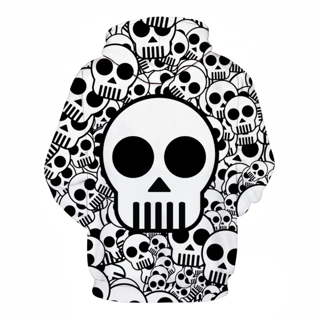 One Piece Skull Printed Brand 3D Hoodie Men Women Sweatshirt