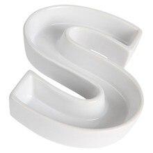 S en forma de carta de platos y platos de cerámica para el caramelo ideas de porcelana bandeja de carta