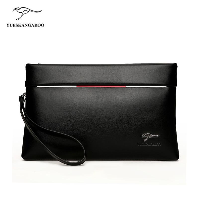 YUES KANGAROO Brand Men Clutch bag PU Les