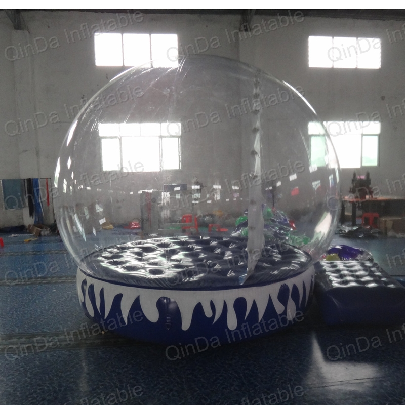 Top quality Christmas inflatable snow globe/large inflatable snow globe/inflatable snow globe tent 3m diameter empty inflatable snow ball for advertisement christmas decorations giant inflatable snow globe