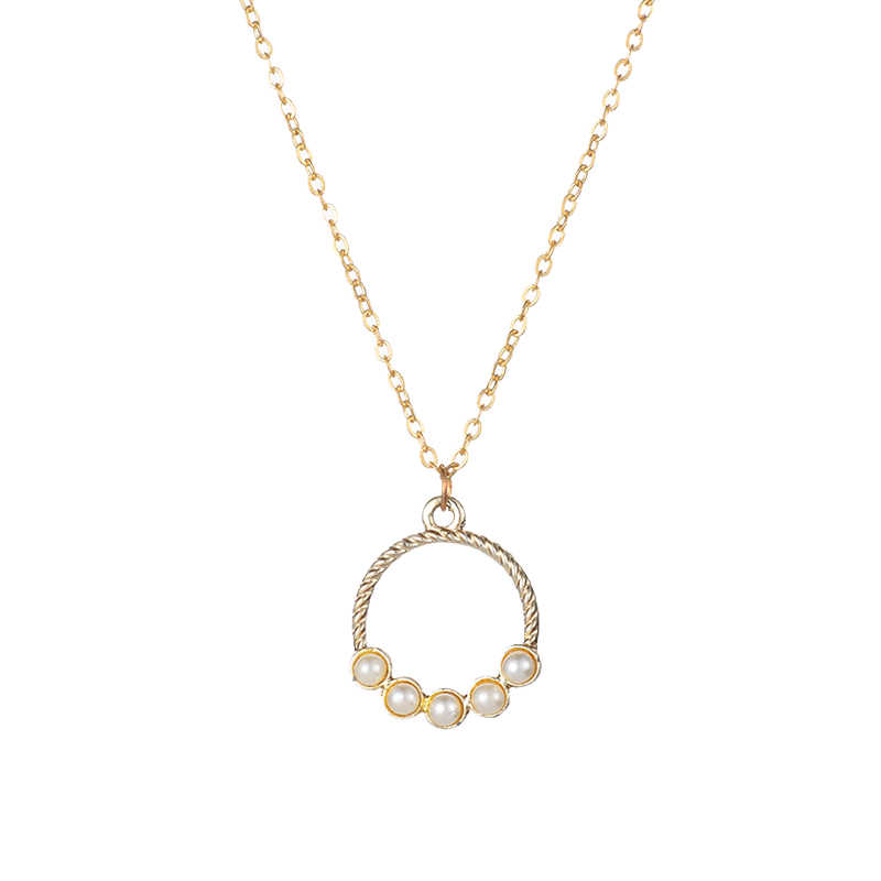 Модные украшения Красивая маленькая рамка с жемчугом-набор жемчуг, Круглый ожерелье для женщин