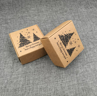 50 sztuk Pudełko Cukierków Przysługę Ślubne Kocham Rustykalne Pakowy kraft Szczęśliwego nowego roku i merry christmas Gift Boxes