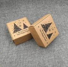 50 шт. коробка конфет Свадебные крафт любовь деревенский крафт с новым годом пользу и Рождеством Подарочные Коробки
