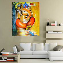 Best Lord Ganesha Vinayagar Wall Art Canvas Posters Prints Painting Oil Pictures For Bedrroom Home Decoration Artwork HD