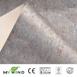 2019 MIJN WIND Zilveren Wallpapers Luxe 100% Natuurlijke Materiaal Veiligheid Onschadelijkheid 3D Behang In Roll Home Decor Europese aristocratie