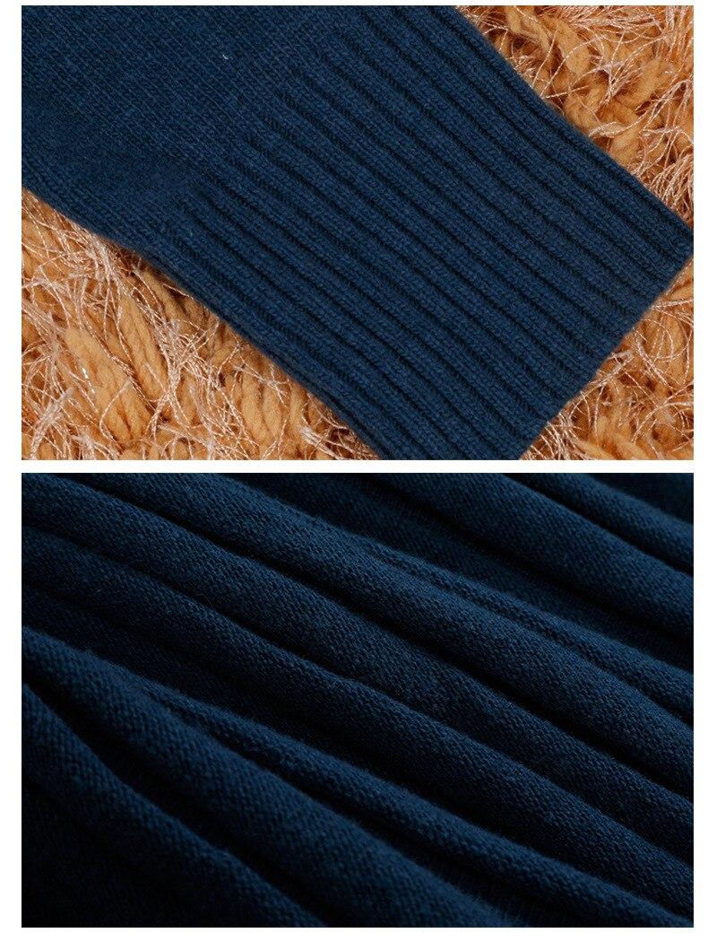 Caltwalk Haute ligne A cou Robes C2810 2018 Tricoté Automne Qualité Manches Robe De Picture Longues O À Genou Mode Mince Color Du Dessus Fold Nouveau xrrPIU