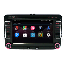Free shipping Quad Core HD1024*600 Android 4.4 Car DVD GPS For VW Passat B6 B5 CC JETTA Tiguan SKODA GOLF Seat with Free Map