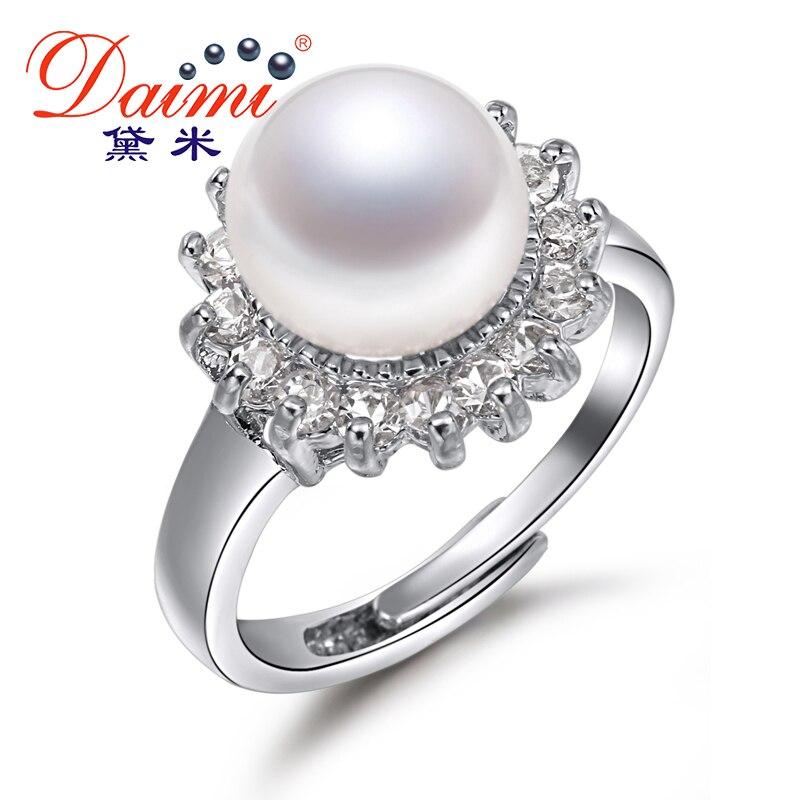 DAIMI 100% Naturel Perle Anneaux 10-11mm Perle Bijoux Pour Femmes D'été Style