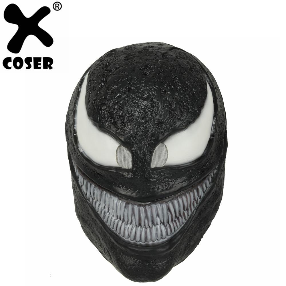 Xcoser Spider Man Movie Venom Mask Dark Superhero Venom Full Head