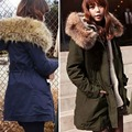Plus Size inverno senhoras jaquetas e casacos 2016 moda forro de algodão acolchoado casaco de inverno jaqueta gola de pele casaco Outwear 9091