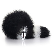 Adult Butt Plug Stainless Steel Metal Faux Fox Tail Sex Toy Anal Insert Stopper Gift For Women Products